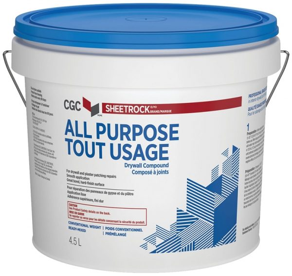 CGC DRYWALL COMPOUND READY MIXED ALL PURPOSE 4.5L PAIL-0