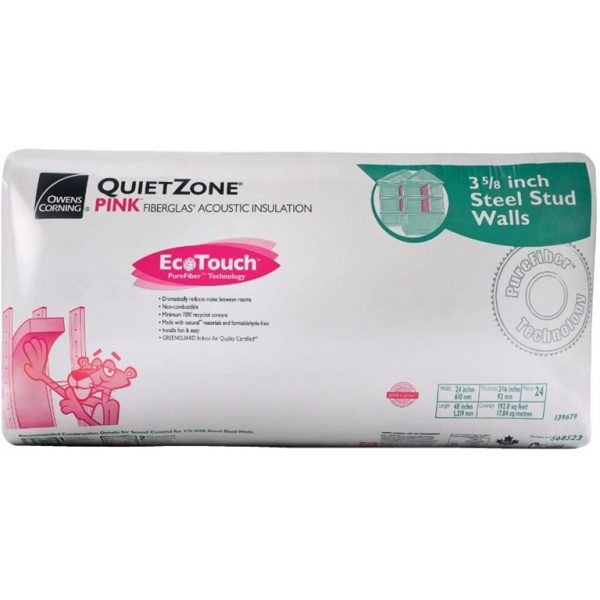 Owens Corning, 16-1/4 X 48 X 6 86.7 sq.ft. Quietzone Fiberglass Insulation Steel Stud (16pcs)-0